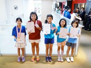 小学生 女子の部 入賞者