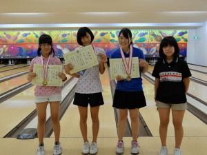 中学生女子の部 入賞者